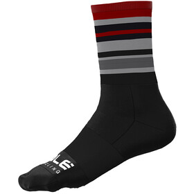 Alé Cycling Stripes Q-Skin Socks 16cm Men, black/bordeaux